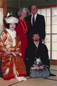 """""""Nearly 43 years after I landed on Japanese soil on Iwo Jima, I watched my son marry a Japanese woman""""."""