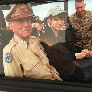 Captain Jerry Yellin is joined by his Japanese Grandaughter, Sarah.